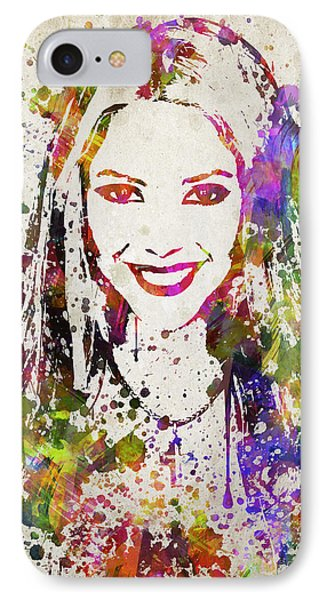 Shakira In Color IPhone Case by Aged Pixel