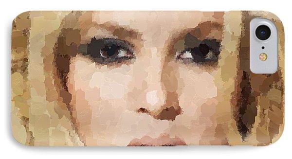 Shakira Portrait IPhone Case by Samuel Majcen