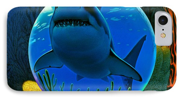 Shark World  IPhone Case by Robin Moline