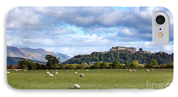 Sheep And Stirling Castle IPhone Case by Jane Rix
