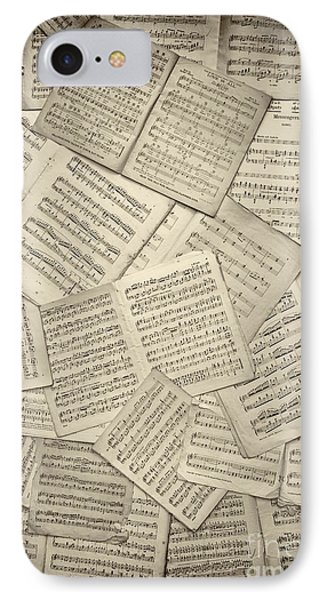 Sheet Music IPhone Case by Tim Gainey