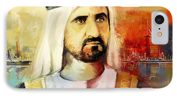 Sheikh Mohammed Bin Rashid Al Maktoum IPhone Case by Corporate Art Task Force