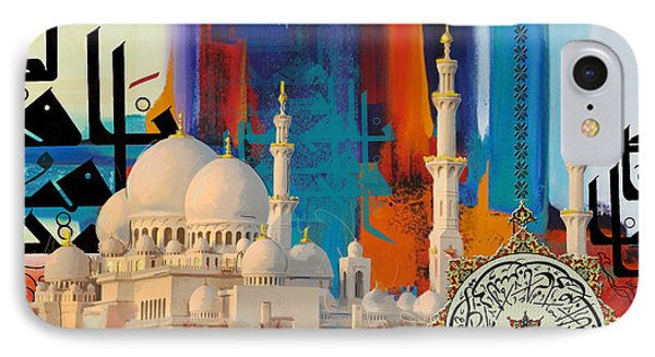 Sheikh Zayed Grand Mosque - B IPhone Case by Corporate Art Task Force