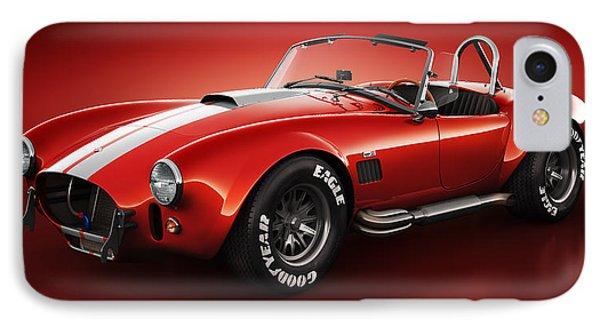 Shelby Cobra 427 - Bloodshot IPhone Case by Marc Orphanos
