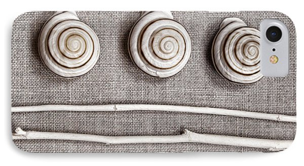 Shells And Sticks Phone Case by Carol Leigh