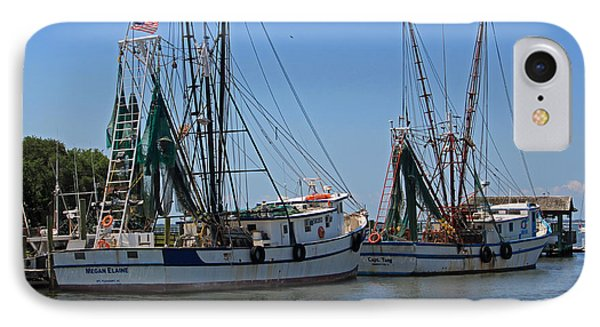 Shem Creek Shrimpers Phone Case by Suzanne Gaff