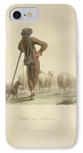 Shepherd Near Valenciennes IPhone Case by British Library