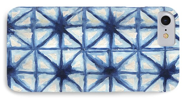 Shibori Iv IPhone Case by Elizabeth Medley