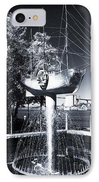 Ship Fountain IPhone Case by John Rizzuto