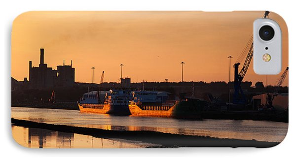 Ships Moored At The New Docking IPhone Case by Panoramic Images