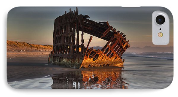 Shipwreck At Sunset IPhone Case by Mark Kiver