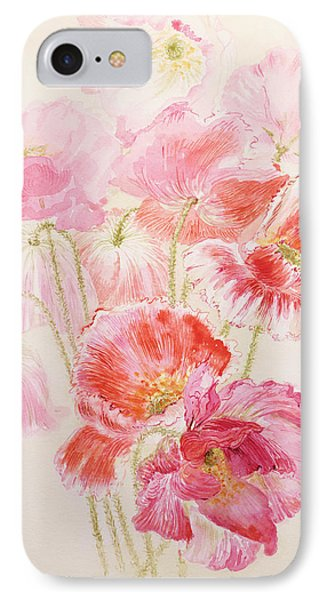 Shirley Poppies Phone Case by Joan Thewsey