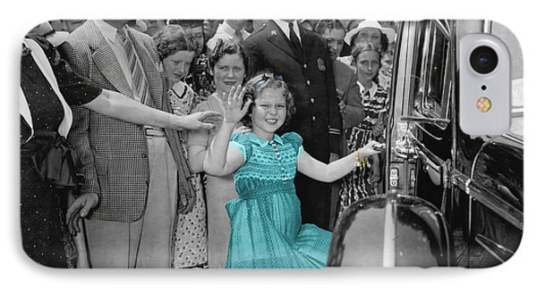 Shirley Temple IPhone Case by Andrew Fare