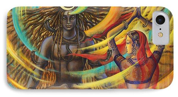 Shiva Shakti IPhone Case by Vrindavan Das