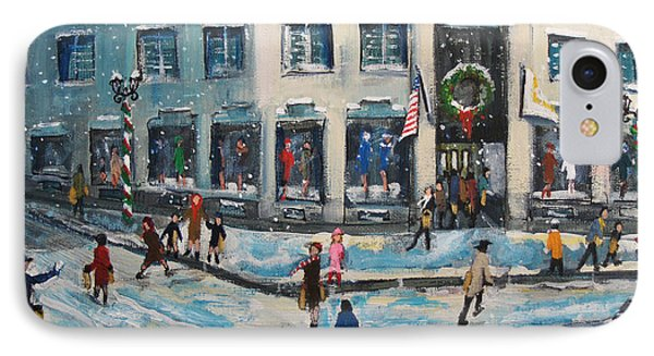 Shopping At Grover Cronin IPhone Case by Rita Brown