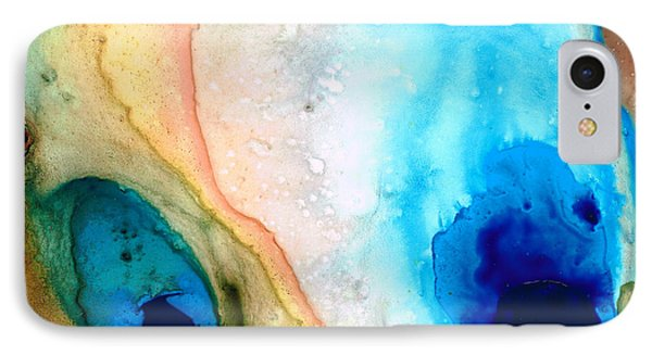 Shoreline - Abstract Art By Sharon Cummings IPhone 7 Case by Sharon Cummings