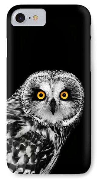 Short-eared Owl IPhone Case by Mark Rogan