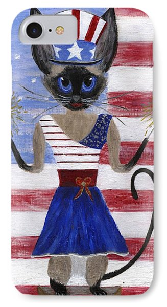Siamese Queen Of The U S A Phone Case by Jamie Frier