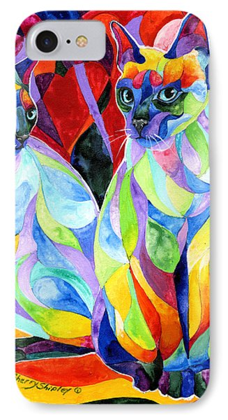 Siamese Sweethearts Phone Case by Sherry Shipley