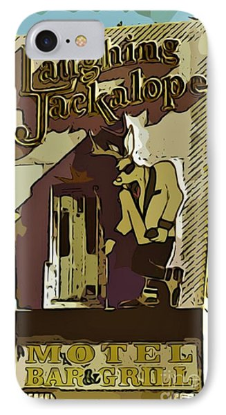 Sign Of The Jackalope Phone Case by John Malone