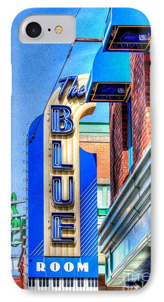 Sign - The Blue Room - Jazz District Phone Case by Liane Wright