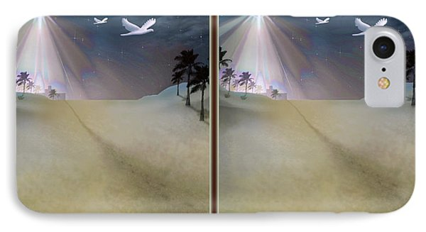 Silent Night - Gently Cross Your Eyes And Focus On The Middle Image Phone Case by Brian Wallace