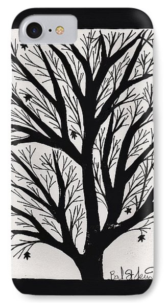 Silhouette Maple IPhone Case by Barbara St Jean