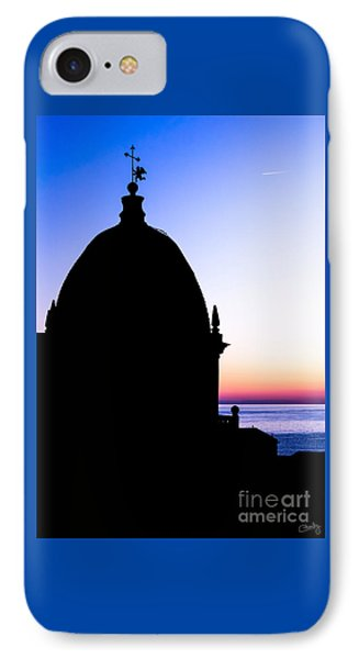 Silhouette Of Vernazza Duomo Dome IPhone Case by Prints of Italy