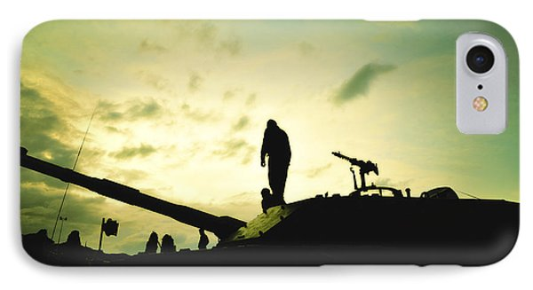 Silhouette Of War  IPhone Case by Stefano Senise