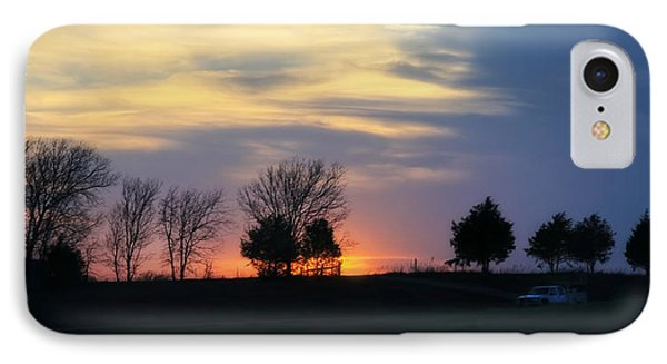 Silhouetts Of A Sunset Phone Case by Joan Bertucci