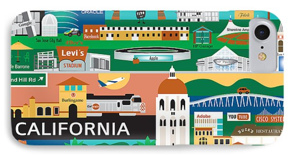 Silicon Valley IPhone Case by Karen Young