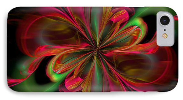 Silk Butterfly Abstract IPhone Case by Georgiana Romanovna