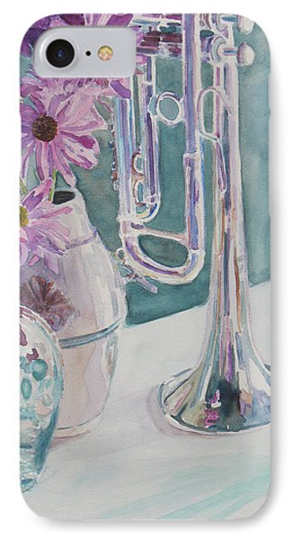 Silver And Glass Music Phone Case by Jenny Armitage