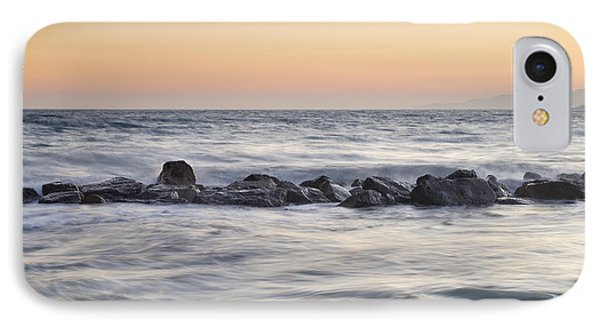 Silver Sea At Sunset Phone Case by Guido Montanes Castillo