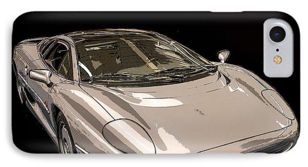Silver Sports Car IPhone Case by Edward Fielding