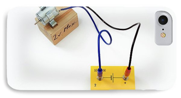 Simple Circuit With Motor IPhone Case by Trevor Clifford Photography