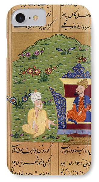 Sinbad Seated Before The King? IPhone Case by British Library