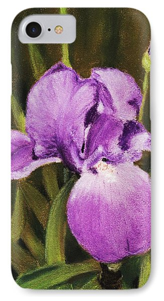 Single Iris IPhone Case by Anastasiya Malakhova