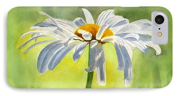Single White Daisy Blossom IPhone 7 Case by Sharon Freeman