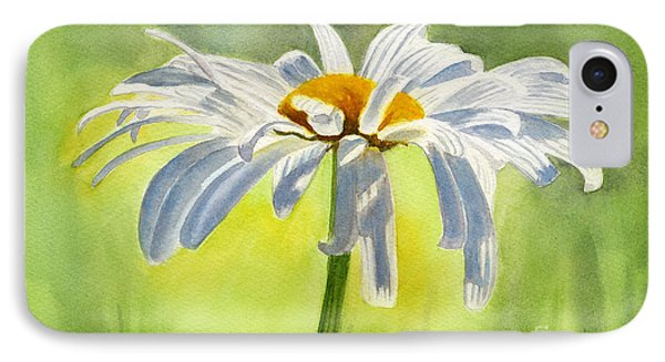 Single White Daisy Blossom IPhone Case by Sharon Freeman