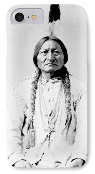 Sioux Chief Sitting Bull Phone Case by War Is Hell Store