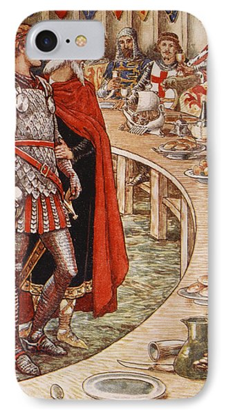 Sir Galahad Is Brought To The Court Of King Arthur IPhone Case by Walter Crane