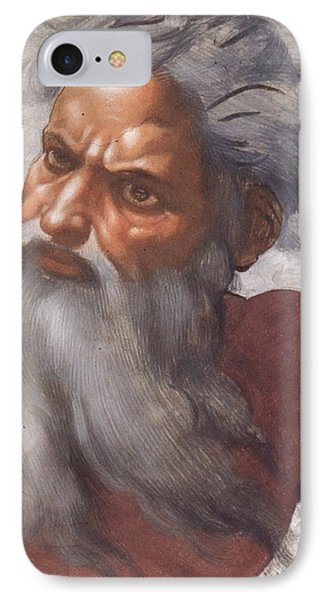 Sistine Chapel Ceiling Creation Of The Sun And Moon Phone Case by Michelangelo Buonarroti