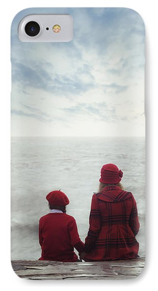 Sitting At The Sea IPhone Case by Joana Kruse