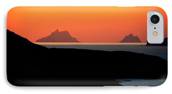 Skellig Islands  IPhone Case by Aidan Moran
