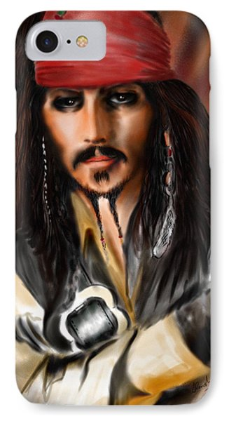 Sketching A Pirate... IPhone Case by Alessandro Della Pietra