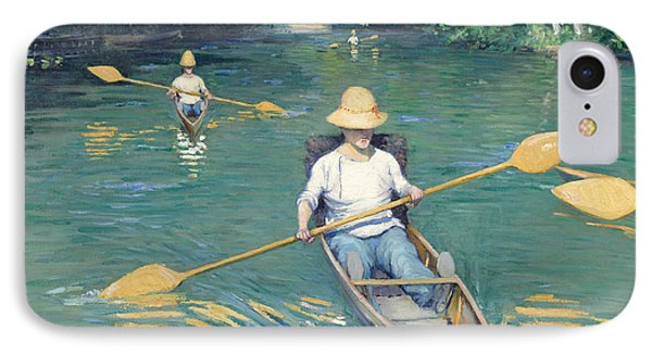 Skiffs IPhone Case by Gustave Caillebotte