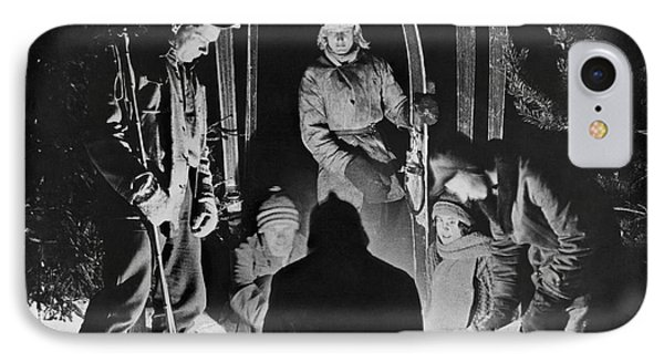 Skiing Party Camps In Siberia IPhone Case by Underwood Archives