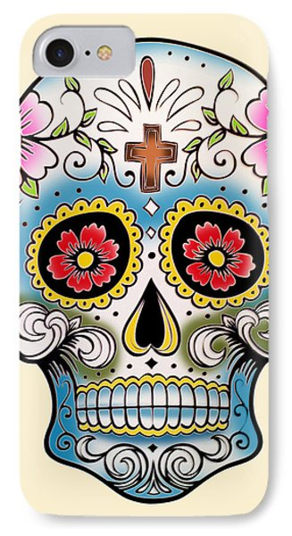 Skull 10 IPhone Case by Mark Ashkenazi