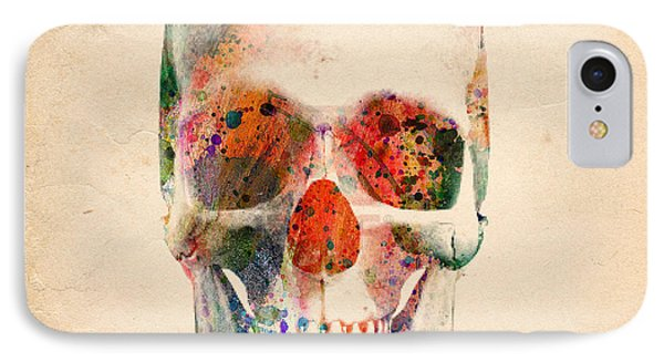 Skull 12 IPhone Case by Mark Ashkenazi